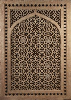 Jali (screen). Second half of the 16th century, India. Red sandstone; pierced and carved