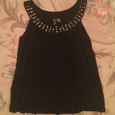 Serenade black studded top size L Worn Maybe once, in excellent condition! Serenade Tops Tank Tops