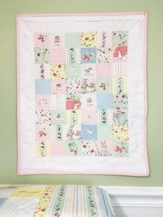 A very sweet mini quilt made with Lauren Nash's Bunnies & Cream fabric line.  More info here:  https://saranaave.wordpress.com/2017/03/06/bunnies-and-cream-blog-tour/