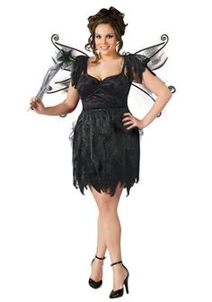 This fairy is from the underworld. This Plus Size Midnight Fairy Costume is a dark fairy costume for women to wear.