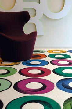 Handmade wool #rug TWIST by Toulemonde Bochart   #design Hilton McConnico @Toulemonde Bochart