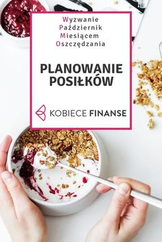 Organize Your Life, Day Planners, Acai Bowl, Meal Planning, Budgeting, Food And Drink, Healthy Eating, Menu, Healthy Recipes