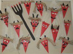 Výsledek obrázku pro výtvarné výrobky čert Diy And Crafts, Crafts For Kids, Arts And Crafts, Holiday Crafts, Holiday Decor, Saint Nicholas, Child Day, Advent, Goblin