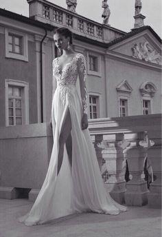 Beautiful long sleeve lace wedding dress