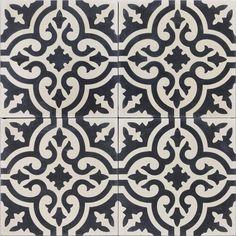 Ideas For Bathroom Black Sink Cement Tiles Mosaic Bathroom, Bathroom Floor Tiles, Mosaic Tiles, Cement Tiles, Bathroom Black, Wall Tiles, Black Backsplash, Kitchen Backsplash, Black Sink