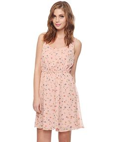 Ditsy Floral Dress (Dusty Pink/Cream). Forever 21. $22.80
