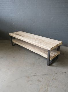 Industrial Chic Style Reclaimed Custom Coffee Table TV Unit 262