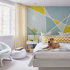 Wall Paint Designs For Bedroom - Wall Paint Designs For Bedroom Interior Paint Colors, Interior Design, Interior Painting, Gray Interior, Orange Interior, Geometric Wall Paint, Geometric Shapes, Geometric Designs, Living Room Paint