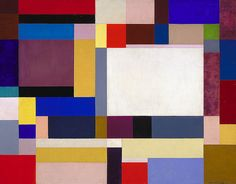 Ilya Bolotowsky: Architectural Variation, 1949  oil on canvas 20 x 30 in. via  Smithsonian American Art Museum   Gift of Patricia and Phillip Frost