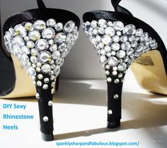 DIY Sexy Rhinestone Heels - perfect for sprucing up a pair of old heels for holiday parties or even your new years eve look!