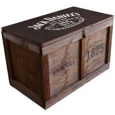Baúl Madera Vintage Grande P/candado Jack Daniels M-33 - $ 1.799,00