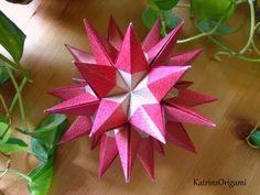 Origami ɛ♥ɜ Resplandor ɛ♥ɜ Kusudama - YouTube