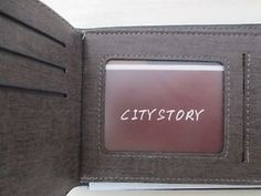 """Brand New Men's Wallet Black Colour Never Used Fine Quality Coin & Bill Slots   Measurment Approx: L x W x H = 12cm x 9cm x 1.5cm/4.72"""" x 3.54"""" x 0.59"""" 8 Cards Slots 2 Money Compartments For Dollar Bills 1 Clear Slot for ID/ Driving License 1 Zipper Pocket for Coin Change Wallet is Brand New, Never Used. Comes with Plastic Wrapping. Wallet is Black on Outside and Brown on The Inside."""