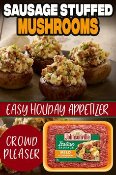 Recipes Appetizers And Snacks, Finger Food Appetizers, Yummy Appetizers, Snack Recipes, Cooking Recipes, Italian Sausages, Veggie Dishes, Side Dishes, Holiday Recipes