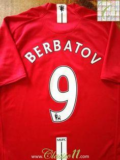 153098a76c4 2008 09 Man Utd Home Premier League Football Shirt Berbatov  9 (L)