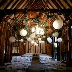 Our barn for wedding ceremonies, grade II listed and dating back to Indoor Ceremony, Wedding Ceremony, Red Bricks, Beautiful Space, Fairy Lights, Beams, Lanterns, Chandelier, Ceiling Lights