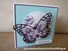Karte Stampin up, Schmetterlingsgruß