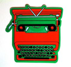 Typewriter Sticker