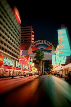Downtown Las Vegas heading towards Fremont Street in the old district of Las Vegas. Featured in this photo is the Fremont Casino and the 4 Queens Hotel tower. Monte Carlo Travel, Vegas Lights, City Lights, Las Vegas Airport, Fremont Street, Thailand Travel, Croatia Travel, Bangkok Thailand, Hawaii Travel