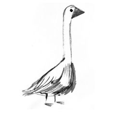 """98 Likes, 1 Comments - Daniel Miyares (@danielmiyaresdoodles) on Instagram: """"Silly Goose #ink #painting #sketch #goose #art #artist #illustration"""""""