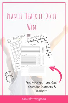 free printable workouts and goals trackers and planners. monthy, weekly, daily goals tracker, habit tracker, workout planner and tracker. Health Planner, Fitness Planner, Wellness Tips, Health And Wellness, Health Tips, Goal Calendar, Time Management Tips, Class Management, Tracker Free