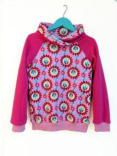 *Raglan Pullover mit Kragen, Eule, Gr. 110-116* von Vibrant 17 four auf DaWanda.com