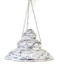 lampara de chapa con estrellas