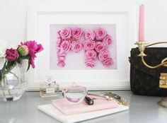 France Photography Wall art Pink roses Paris by PetalsandJasmine