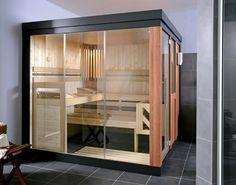 Helo Spring, mooie open sauna in de showroom van Bubbels Jets Modern Decor, Modern Design, Indoor Sauna, Sauna Design, Hearth And Home, Saunas, Travel Design, Creative Home, Building Design