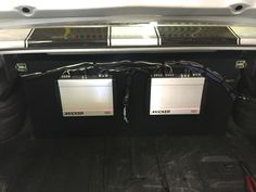 Here's another cool custom install by the team at our North Dixie store, Stereo-In-Dash! This awesome restored '68 Chevrolet Chevelle now sounds as good as it looks, with a pair of Kicker 10-inch CompR subwoofers firing into the vehicle and a pair of Kicker KX amps flushed into the trunk! Stop by any of our three locations (Beavercreek, North Dixie/Stereo-In-Dash, and West Carrollton/Moraine) to learn more or to schedule your own professional installation.