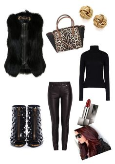 Tuscan Leather by nicoleshautediary on Polyvore featuring polyvore, fashion, style, Anthony Vaccarello, Philipp Plein, Morgan, Tom Ford, Valentino, Burberry and clothing
