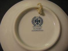 Porcelain-Handpainted-Vintage-Hungarian-Hollohaza-Flowers-design-Wall-Decor