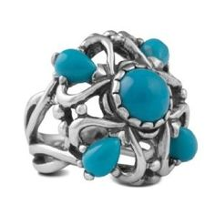 Carolyn Pollack Sterling Silver Turquoise Elegance Ring