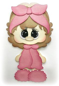 Little girl in pajamas premade paper piecing die cut for scrapbooks cards planner project life by my tear bears kira Scrapbook Titles, Kids Scrapbook, Scrapbook Cards, Doll Crafts, Paper Crafts, Paper Punch Art, Cute Baby Dolls, Die Cut, Project Planner