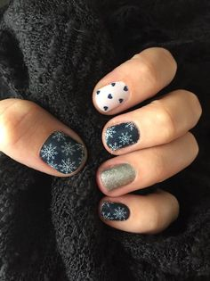 Winter's Edge accented with Puppy Love & Diamond Dust Sparkle Jamberry http://www.morganshelton.jamberry.com