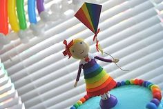 Rainbow Birthday - Find more Rainbow Party Ideas at http://www.birthdayinabox.com/party-ideas/guides.asp?bgs=189