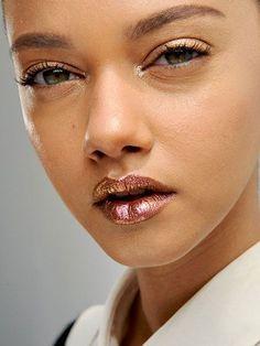 Lip Art You Can Actually Do: Copper Lipstick | allure.com