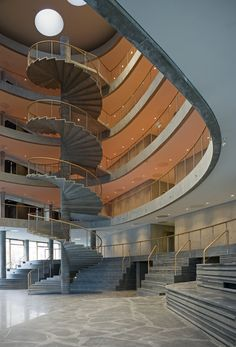 copenhagen business school by Lundgaard & Tranberg Arkitekter … Stairs And Staircase, Staircase Design, Stair Design, Spiral Staircase, Ceiling Windows, Windows And Doors, Architecture Details, Interior Architecture, Interior Design