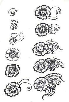 51 Ideas Doodle Art Zentangle Patterns Henna For 2019 Henna Tattoo Designs, Henna Tattoos, Henna Designs On Paper, Henna Flower Designs, Designs Mehndi, Tattoo Ideas, Simple Henna Designs, Henna Designs Drawing, Mehndi Drawing