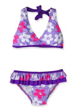 Smocked A Lot girls Princess bikini 2pc swimsuit pink swim suit Cinderella Belle