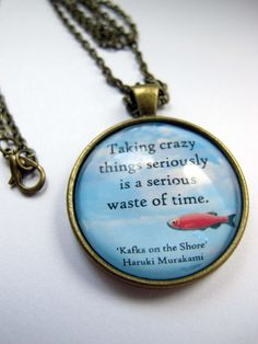 Haruki Murakami Kafka on the shore pendants with chain by nikajon