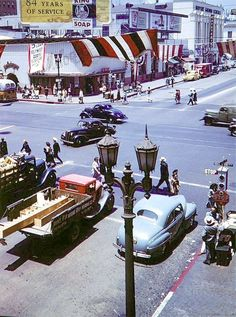 LOS ANGELES / HOLLYWOOD: 1940's Hollywood and Vine.