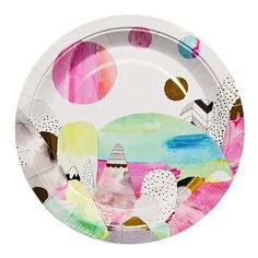 Stylish paper plates designed by Melbourne Artist Laura Blythman. 10pk for $9.50. These plates are limited edition Art Series by We Love Sundays so get them quick! Also available in matching paper cups and napkins.