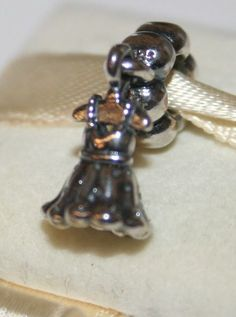 NEW Authentic Pandora Silver PARTY GIRL Dress Charm 791031 RETIRED #65 #Pandora #SlideSlider