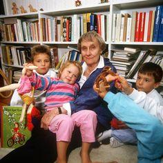 Astrid Lindgren. Foto. IBL