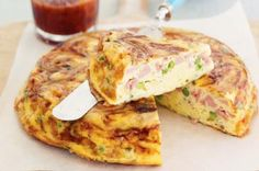 Ham & pea frittata. Cheesy goodness served at brunch before Dad's Costa Rican wedding.