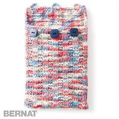 Undercover Knit Tablet Case  | Knit | Free Pattern | Yarnspirations | Bernat Maker Home Dec Yarn