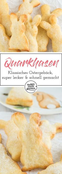 Die kleinen Quarkhasen sehen … Tasty Easter classic: buns made from cottage cheese oil dough. The little quark bunnies not only look cute, they also taste delicious and are made quickly. Baking Recipes, Cake Recipes, Snack Recipes, Dessert Recipes, Snacks, Food Cakes, Biscuits Keto, Good Food, Yummy Food