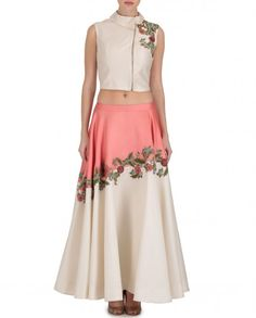 Cream Loose Fit Skirt