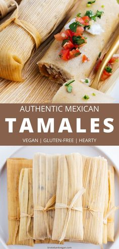 These easy step-by-step instructions will show you how to make tamales vegan, gluten-free, and without any hassle (even if it's your first time). With a simple dough, you can choose any filling to make these delicious antojitos. Some of our favorites are black bean & sweet potato, strawberry, jalapeño cheese, or potato adobo. #tamales #howtomaketamales #vegantamales #nolardtamales #glutenfree Vegan Mexican Recipes, Vegan Dinner Recipes, Vegan Snacks, Vegetarian Meals, Vegan Recipes Easy, Vegan Food, Snack Recipes, Frugal Meals, Healthy Dinners